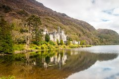 Kylemore Abey, Ireland. Kylemore Abey from across the lake Stock Images