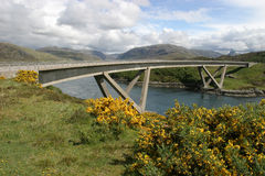 Kylesku Bridge. The bridge at Kylesku in the Scottish West Highlands royalty free stock photos