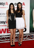 Kylie Jenner and Kendall Jenner. At the Los Angeles Premiere of `Easy A` held at the Grauman`s Chinese Theater in Hollywood, California, United States on royalty free stock images