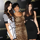 Kylie Jenner, Kris Jenner and Kendall Jenner Stock Photography