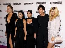 Kylie Jenner, Kris Jenner, Khloe Kardashian, Kourtney Kardashian e Kim Kardashian Imagem de Stock Royalty Free