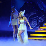 Kylie Minogue in concert Stock Photography