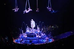 Kylie Minogue en concierto imagen de archivo libre de regalías