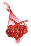 Kyliga peppar för röd hoit i den isolerade påsen Arkivbilder
