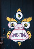 Kylin Anstrich Phelri Nyingmapa am Kloster Lizenzfreies Stockfoto