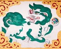 Kylin Anstrich Phelri Nyingmapa am Kloster Stockfotografie