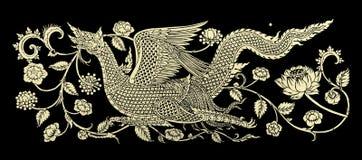 Kylin-Bilder künstlerisch von der thailändischen Malerei u. von der Literatur stockbilder