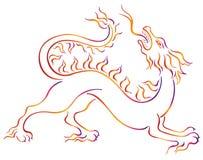 Kylin cinese illustrazione di stock