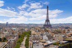 Kyline εναέρια Γαλλία πύργων του Παρισιού Άιφελ ands Στοκ εικόνα με δικαίωμα ελεύθερης χρήσης