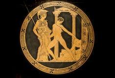 Kylix Aison z wyczynami Theseus Obraz Stock