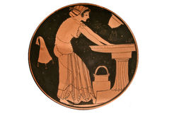 Kylix red-figure Stock Image