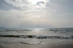 Kyllini beach sunset Royalty Free Stock Image