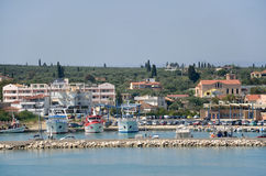 Kyllini port in Greece. Port of Kyllini in Peloponnese , Greece Royalty Free Stock Photography