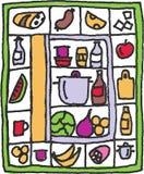 kylskåp stock illustrationer
