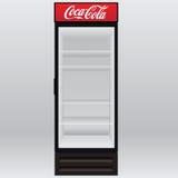 Kylskåp Coca-Cola Arkivbilder