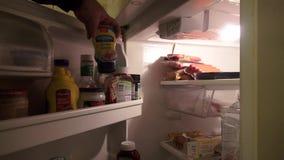 Kylskåp frys, jordbruksprodukter, Foods, lagring stock video