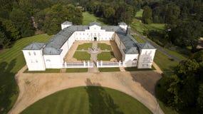 KynÅ ¾ vart -捷克城堡空中寄生虫地平线视图  库存图片
