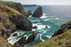 Kynance Bucht, Cornwall Lizenzfreies Stockfoto