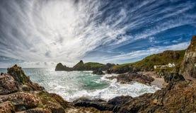 Kynance Bucht, Cornwall Lizenzfreies Stockbild