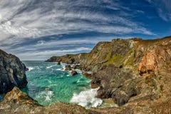 Kynance Bucht, Cornwall Stockbild