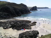 Kynance Cove. Cornwall stock images