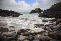 Kynance Cove in Cornwall, England Royalty Free Stock Photo
