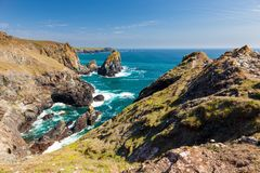 Kynance Cove Cornwall England UK stock image