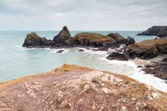 Kynance cove in cornwall england uk Royalty Free Stock Photos