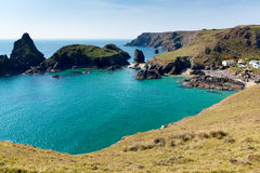 Kynance Cove Cornwall England UK The Lizard Heritage Coast With Turquoise Blue Clear Sea Stock Photos
