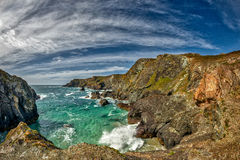 Kynance Cove, Cornwall. Location of Poldark series is filmed Stock Image