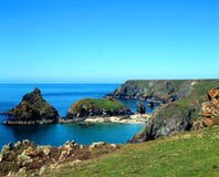 Kynance Cove. A landscape view of Kynance Cove in Cornwall England UK Royalty Free Stock Photo