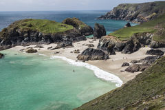 Kynance Cove on the Lizard in Cornwall in England Royalty Free Stock Photo