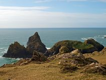 Kynance Cove västra Cornwall Arkivbilder
