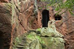 Kynastons Höhle Stockbilder