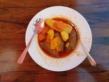 Kyofta in een plaat van Turkse keuken Stock Foto