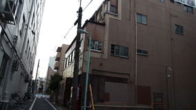 Kyokushin Karate dojo in Tokyo. Japan. The building which houses the main training room Kyokushin Karate. Tokyo. Japan stock video