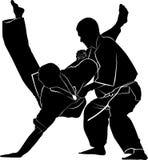 Kyokushinkai Karate. Vector karate flat Royalty Free Stock Image
