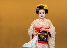 Kyomai Dance Performed by Maiko In Kyoto Royalty Free Stock Image
