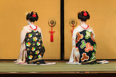 Kyomai Dance Performed by Maiko In Kyoto Stock Images