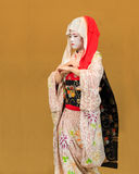 Kyomai Dance Performed by Maiko In Kyoto Royalty Free Stock Images