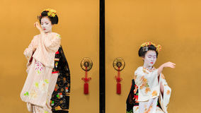 Kyomai Dance Performed by Maiko In Kyoto Stock Photos