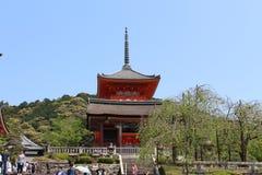 Kyomizu tempel, Kyoto, Japan Royaltyfri Fotografi