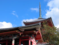 Kyomizudera pagoda Royalty Free Stock Images