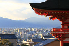 Kyomizutempel in Wintertijd Kyoto Japan Royalty-vrije Stock Foto's
