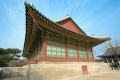 Kyongbok palace. SEOUL, SOUTH-KOREA-MARCH, 3: Traveler come to seeing, blessings and worship on March 3, 2012 at Kyongbok palace in Seoul, South-Korea Stock Photos