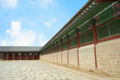 Kyongbok palace korea beautiful landscape Royalty Free Stock Photography