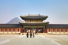 Kyongbokkung宫殿,汉城韩国 免版税库存图片