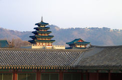 Kyongbokkung slott, Seoul Korea Royaltyfria Foton