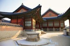 Kyongbokkung slott, Seoul Korea Fotografering för Bildbyråer