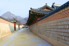 Kyongbokkung slott, Seoul Korea Royaltyfri Bild